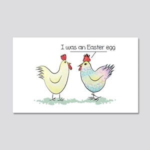 Funny Easter Egg Chicken 20x12 Wall Decal