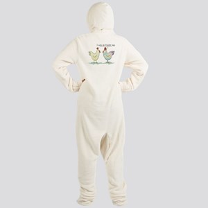 Funny Easter Egg Chicken Footed Pajamas