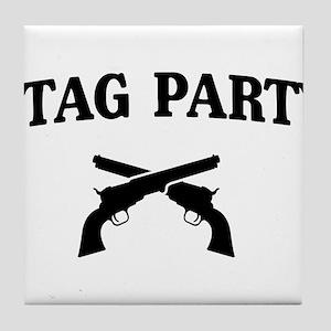 Stag Party Guns Tile Coaster