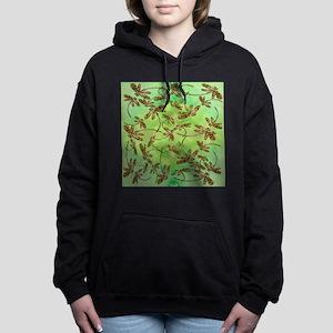 Golden Dragonfly Cluster Women's Hooded Sweatshirt