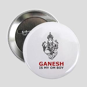 Hinduism Ganesh Is My Om Boy Button