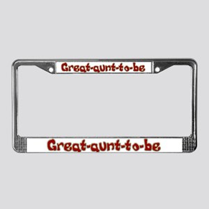 Great-aunt-to-be License Plate Frame
