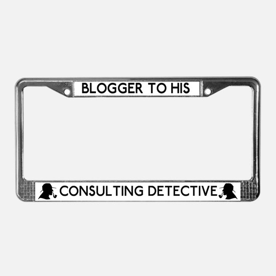 Sherlock Blogger His Detective License Plate Frame