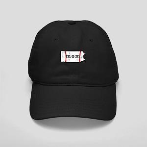Teeball Mom Shirt Pennsylvani Black Cap with Patch