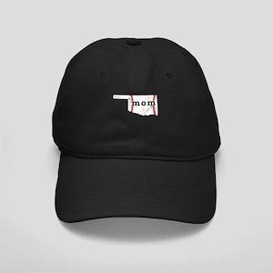 Teeball Mom Shirt Oklahoma Sh Black Cap with Patch
