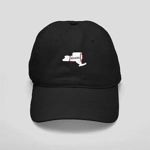 Teeball Mom Shirt New York Sh Black Cap with Patch