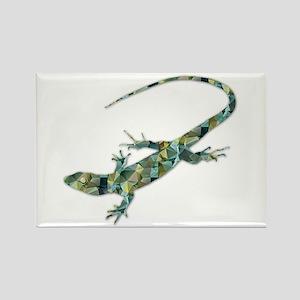 Mosaic Polygon Green Lizard Magnets