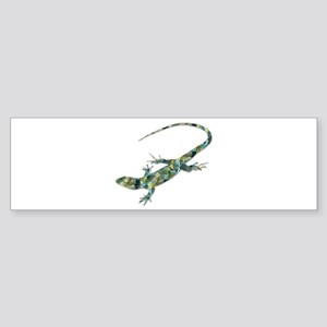 Mosaic Polygon Green Lizard Bumper Sticker