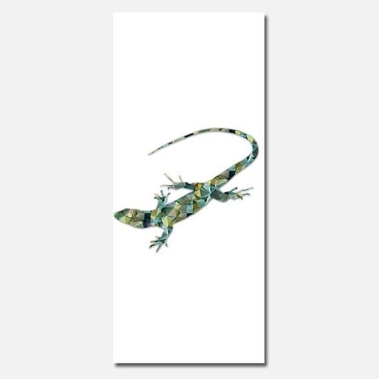 Mosaic Polygon Green Lizard Invitations