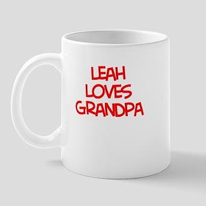 Leah Loves Grandpa Mug