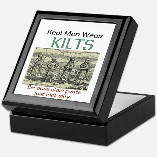 Real Men Wear Kilts Keepsake Box