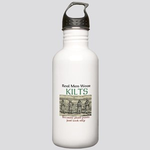 Real Men Wear Kilts Water Bottle