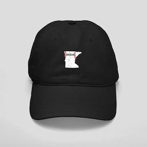 Teeball Mom Shirt Minnesota S Black Cap with Patch