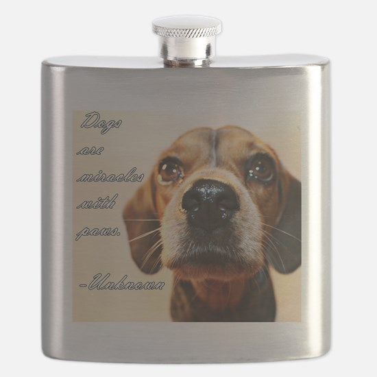 Miracles with Paws Flask