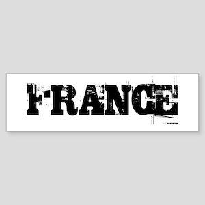 FRANCE TRASHED Bumper Sticker