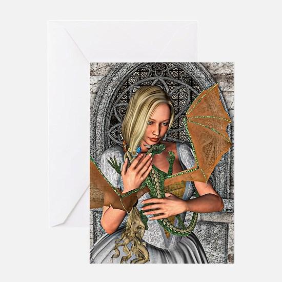 Princess and Dragon Greeting Cards