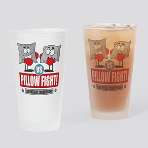 Pillow Fight! Drinking Glass