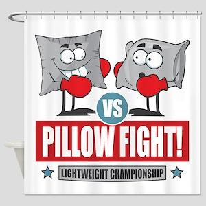 Pillow Fight! Shower Curtain