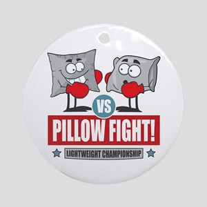 Pillow Fight! Ornament (Round)