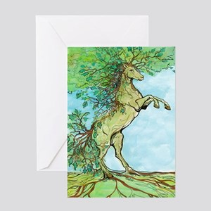 Wood Horse Greeting Cards