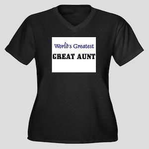 World's Greatest GREAT AUNT Women's Plus Size V-Ne