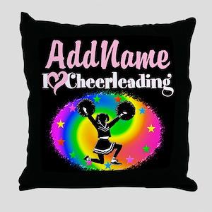 BEST CHEERLEADER Throw Pillow
