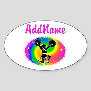 CHEERING CHAMP Sticker (Oval)