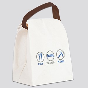 Eat Sleep Mine Canvas Lunch Bag