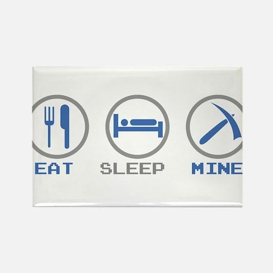 Eat Sleep Mine Rectangle Magnet