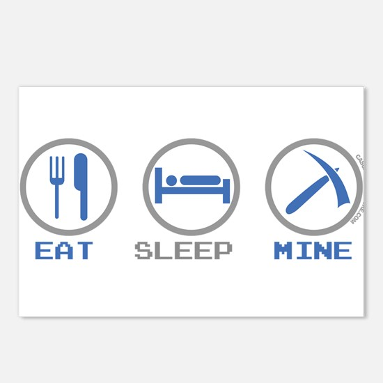 Eat Sleep Mine Postcards (Package of 8)
