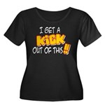 Kick Out of This Women's Plus Size Scoop Neck Dark