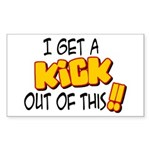 Kick Out of This Rectangle Sticker
