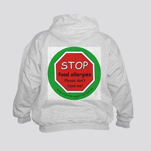 STOP food allergies Kids Hoodie with back design