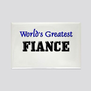 World's Greatest FIANCE Rectangle Magnet