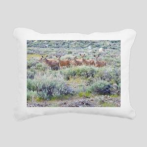 Eastern Sierra Herd Rectangular Canvas Pillow