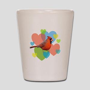 Cardinal Hearts Shot Glass