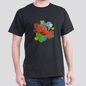 Cardinal Hearts Dark T-Shirt