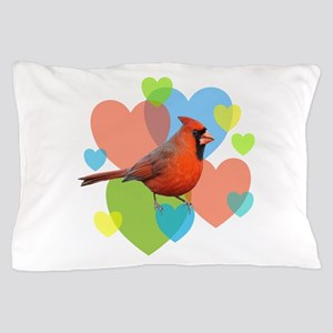 Cardinal Hearts Pillow Case