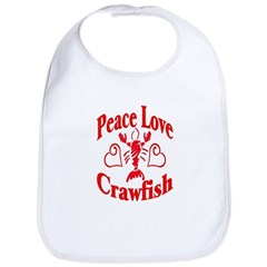 Peace Love Crawfish Bib