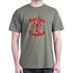 Peace Love Crawfish Dark T-Shirt