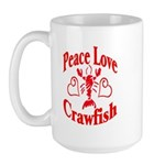 Peace Love Crawfish Large Mug