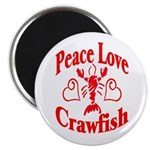 Peace Love Crawfish Magnet