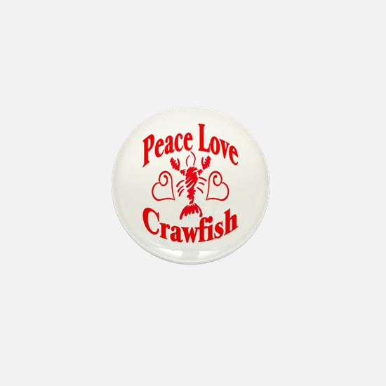 Peace Love Crawfish Mini Button