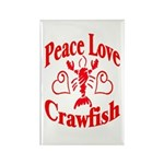 Peace Love Crawfish Rectangle Magnet