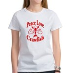 Peace Love Crawfish Women's T-Shirt