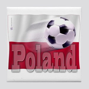 Soccer Flag Poland Tile Coaster