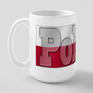 Soccer Flag Poland Large Mug
