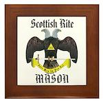 Scottish Rite Masons Framed Tile