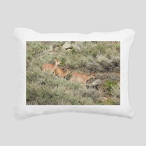A Mulr Deer Adventure Rectangular Canvas Pillow