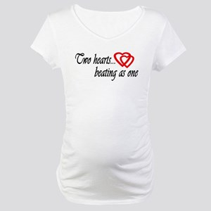 Two Hearts Beat One Cute Maternity T-Shirt